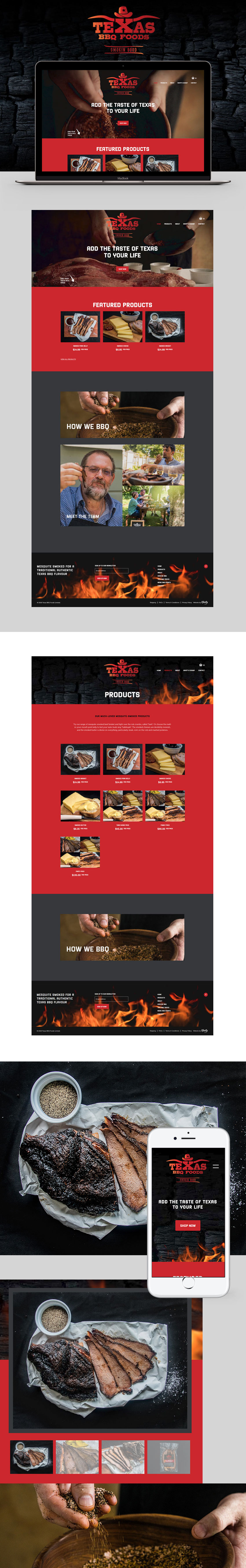 Texas BBQ Foods Screen Shot